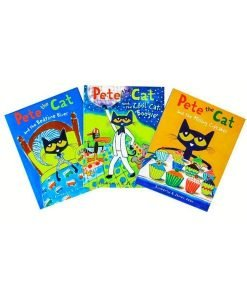 Pete the Cat 3-Set Cool Cat Boogie - Bedtime Blues - Missing Cupcakes
