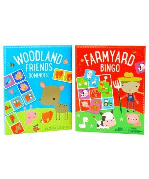 Farmyard Bingo and Woodland Friends Dominoes (2-Set