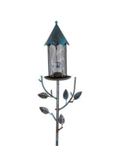 Metal Mesh House Shaped Bird Feeder