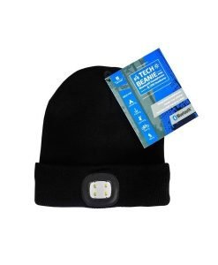 Tech Beanie with Bluetooth Speaker and Light