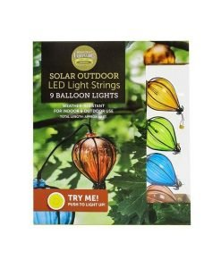 Solar Balloon Light String - 9 LED Lights