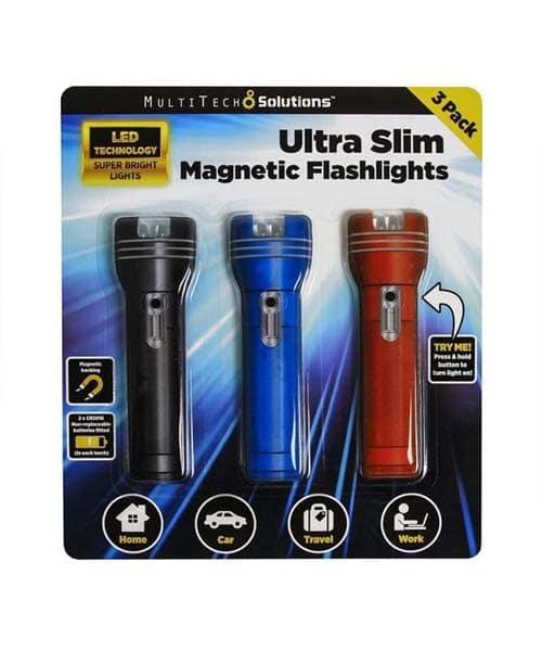 THIN FLAT LED FLASHLIGHT MAGNETIC THIN FLAT LED POCKET PURSE FLASHLIGHT