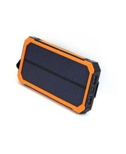 Portable Solar Charger - 15000mAh Super Charger (Orange Front)