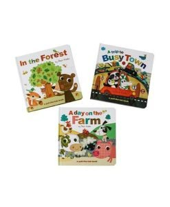 Pull the Tab Books 3-Set (Forest, Farm, Town)