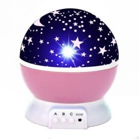 Pink - LED Starry Sky Rotating Night Light - Projector