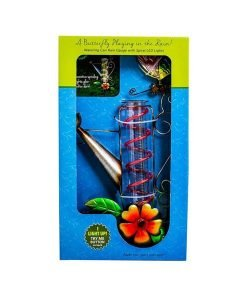 Watering Can Rain Gauge with Solar LED Lights - Boxed
