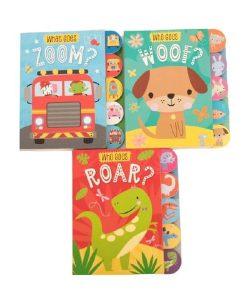 Who Goes Roar/Woof/Zoom 3 Book Set