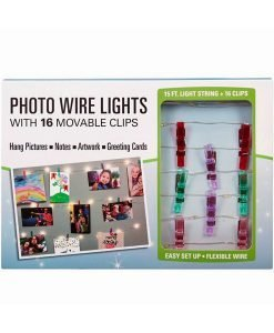 Photo Wire Lights with 16 Movable Clips - Cover