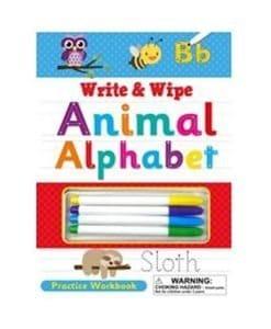 Write and Wipe Animal Alphabet - Cover